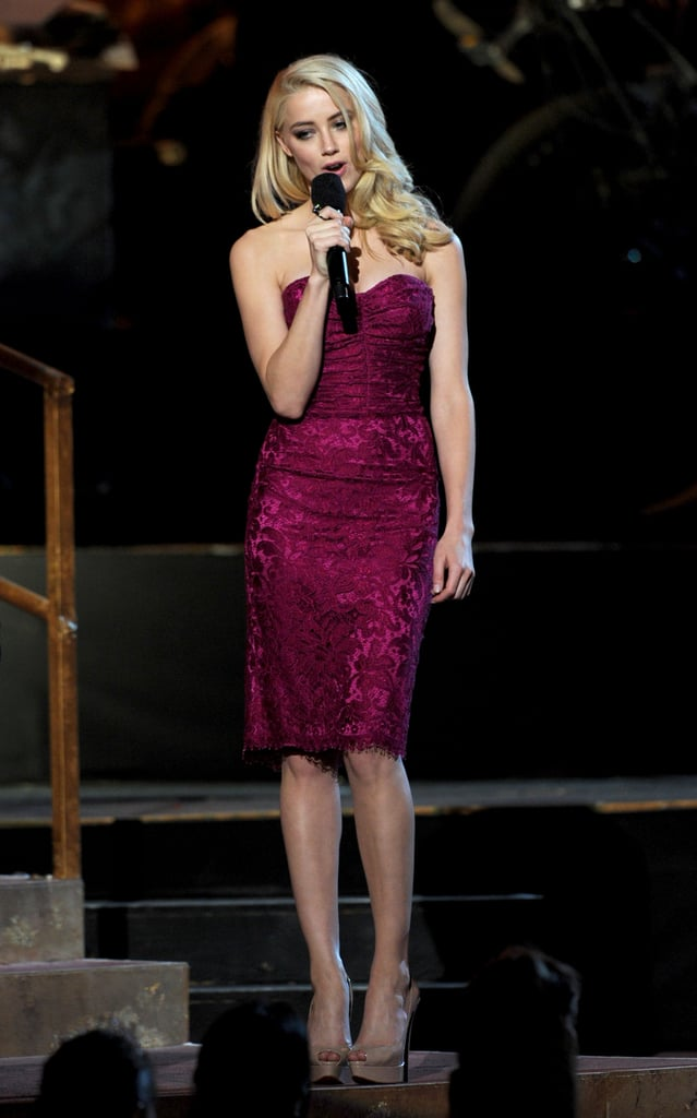 Amber was sweet and sassy in Dolce & Gabbana at the Spike TV Scream Awards in 2011.