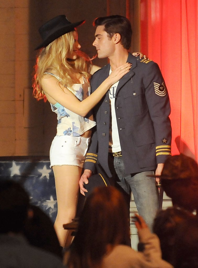 Zac Efron Gets Rowdy During a Kissing Scene