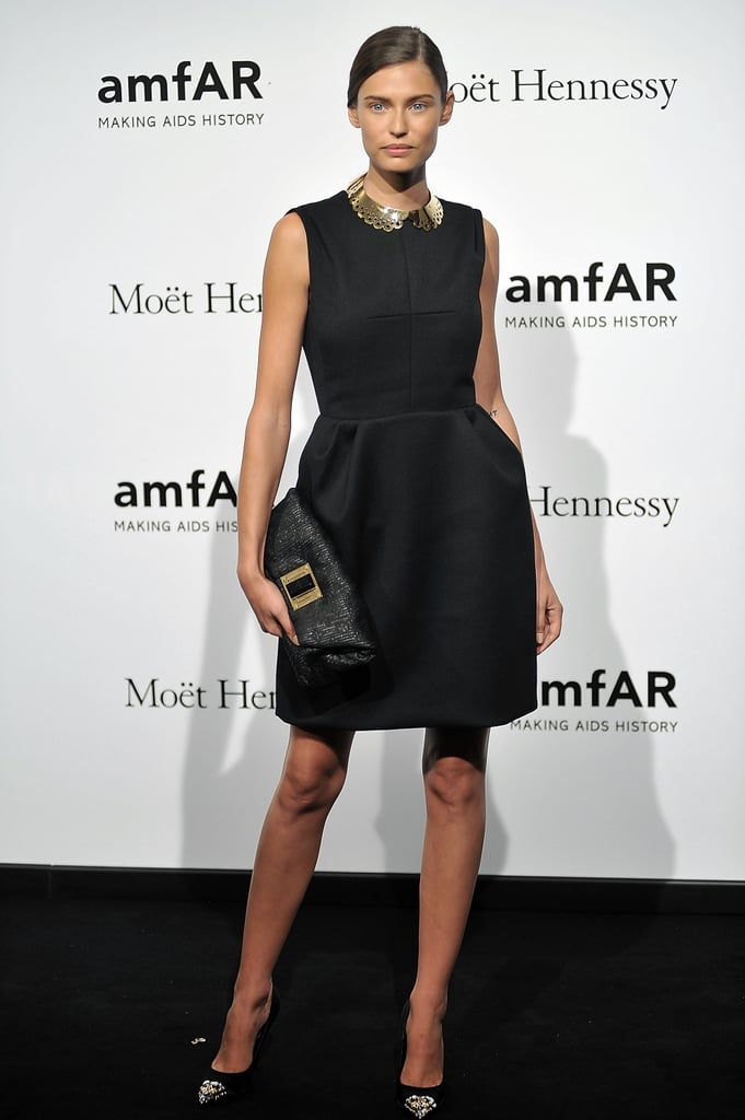 Bianca Balti was a stand-out in her understated LBD, which she artfully styled with a gold collar necklace.