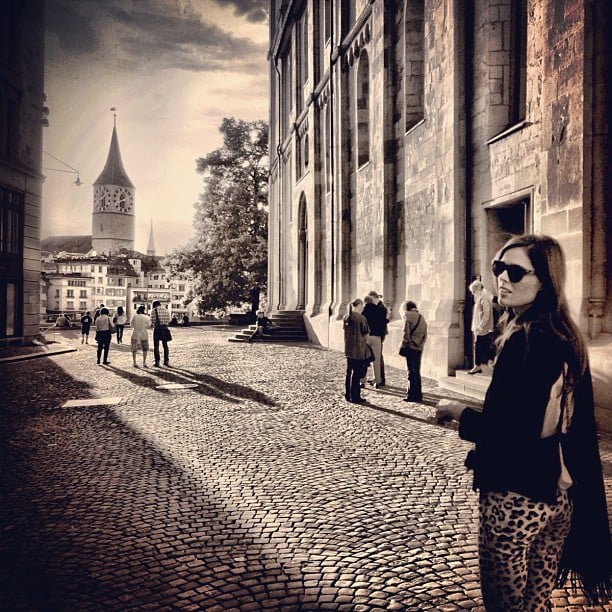 Coco Rocha shared an artsy snap from her travels in Zurich. Source: Instagram user cocorocha