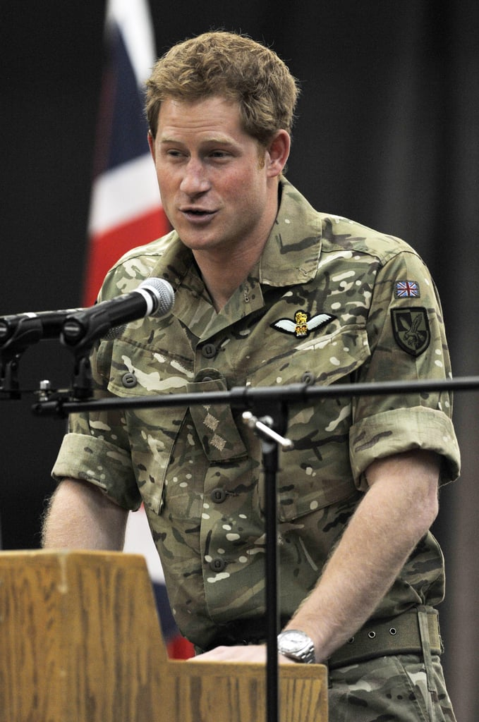 Prince Harry addressed the crowd in Colorado Springs, CO, on Saturday.