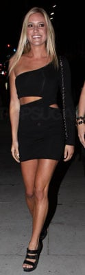 Kristin Cavallari in Black Cutout Dress