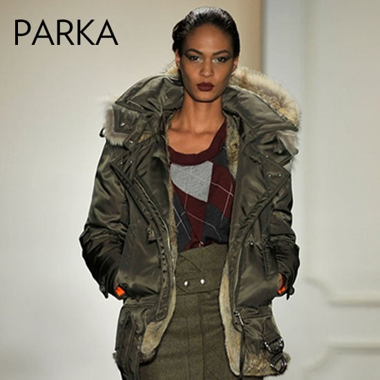 Why we love it: The parka's a favorite for its effortless cool-girl effect. It adds a sporty finish to your style, not to mention, lots of cozy warmth in a great fur-trimmed puffer style, like the ones we saw at Altuzarra. How to wear it: The best part about the parka is its wearability. No, it doesn't work well with evening wear, but as far as the day-to-day we will never tire of a great, cozy parka to top our skinny jeans and snug sweaters. Look for a slim fit when you're shopping to avoid adding unnecessary bulk.  Shop the runway: Altuzarra Willow Oversized Satin-Twill Parka ($2,950)