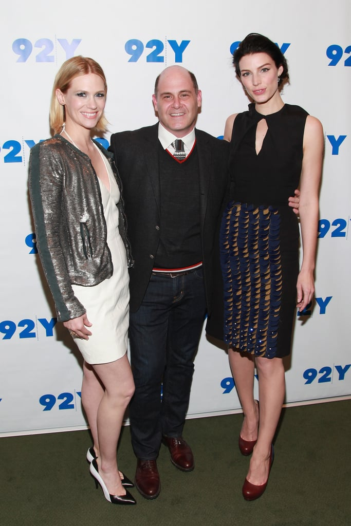 Jessica Paré and January Jones posed with Matthew Weiner.