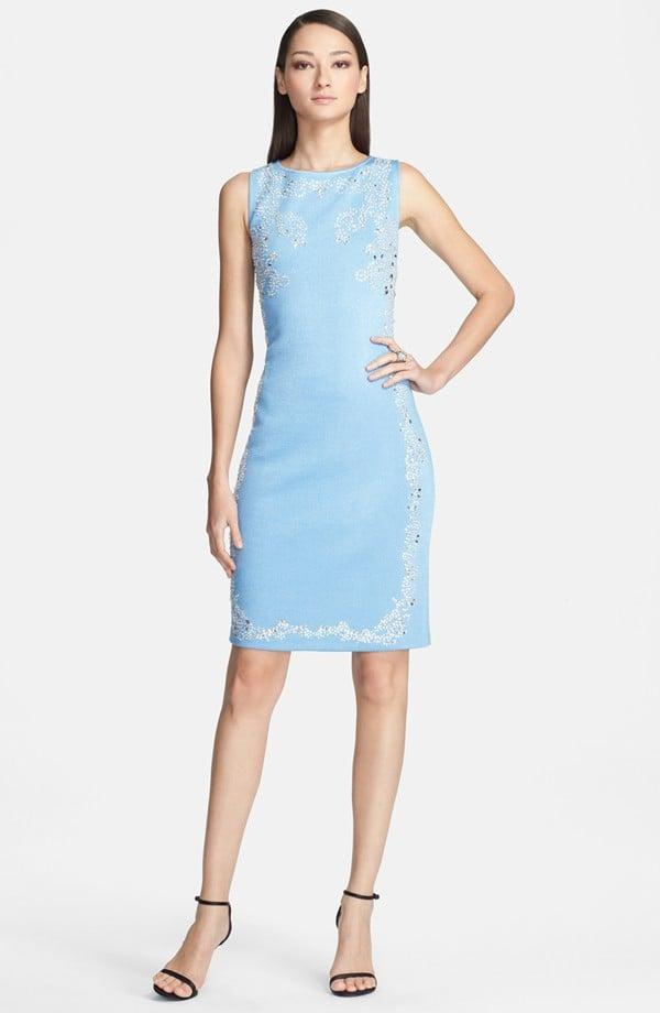 St. John Collection Embellished Knit Dress