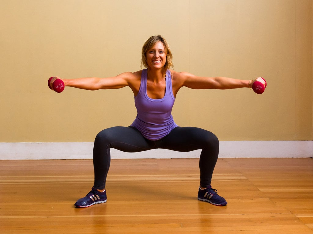 Sumo Squats With Lateral Raise