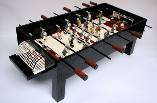 Star Wars Foosball Table Made of Legos