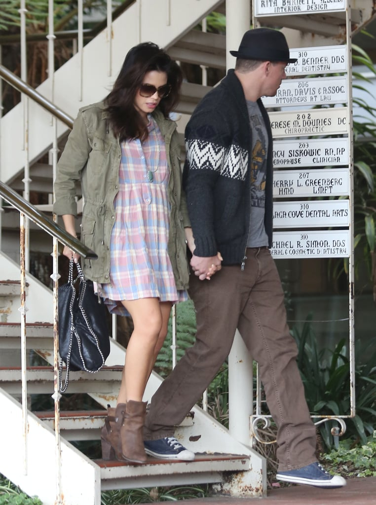 Channing Tatum and Jenna Dewan Hold Hands as They Reunite at Home
