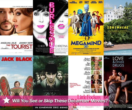 Movies Films Released at UK Cinemas in December 2010 Including The Tourist
