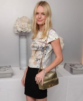 Photo of Kate Bosworth With Gold Bag at Simon Aboud Book Launch Party in London
