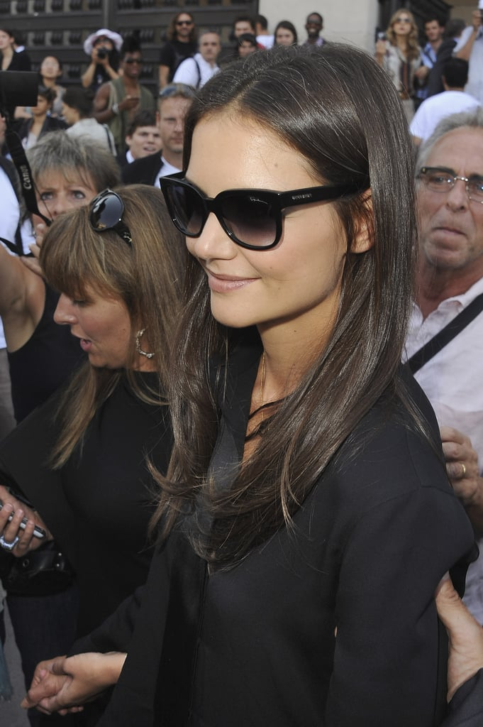 Katie Holmes at a fashion show.