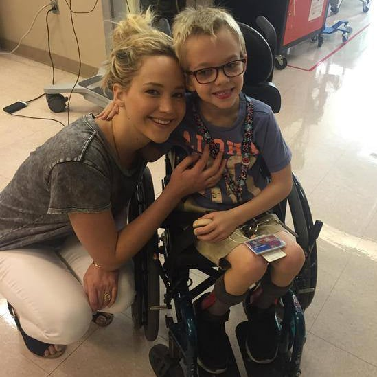 Jennifer Lawrence at Shriners Hospital For Children