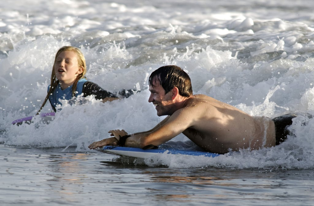 Stephen Moyer and Lilac Moyer rode a wave.