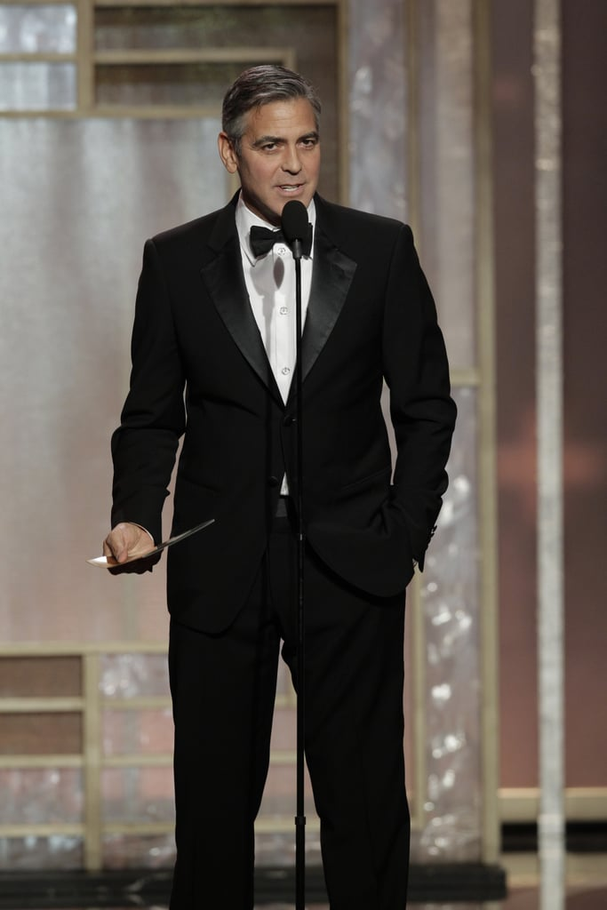 George Clooney presented at the Golden Globes in addition to winning best picture, drama, for Argo.