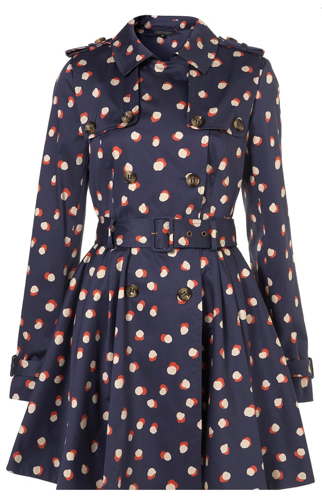If you're a rainy day jeans-and-sweater kind of gal, just throw on this Topshop printed trench ($180) to add a jolt of fashion energy.