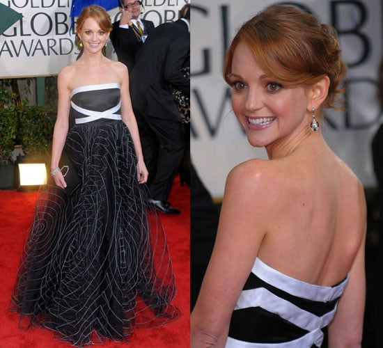 Jayma Mays in Badgley Mischka at 2010 Golden Globes Awards