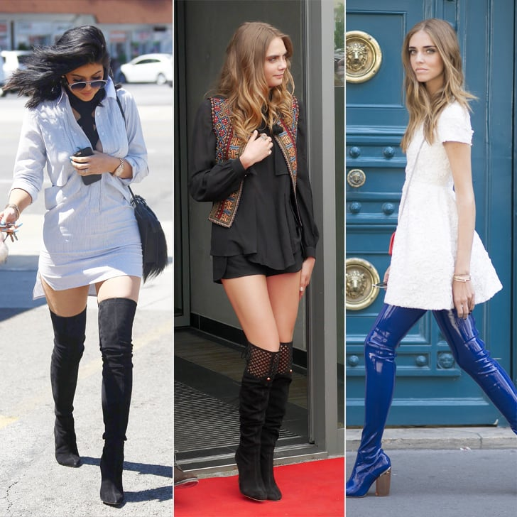 when to start wearing knee high boots popsugar fashion