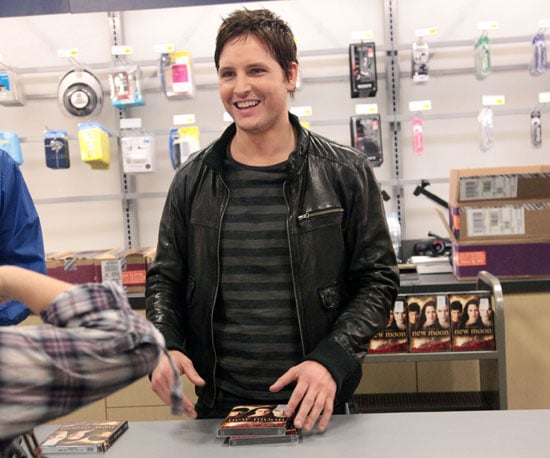 Slide Photo of Peter Facinelli Signing New Moon DVDs