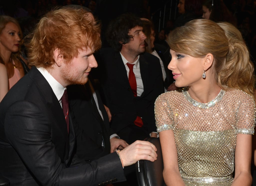 Taylor Swift and Ed Sheeran met up to chat in the crowd.