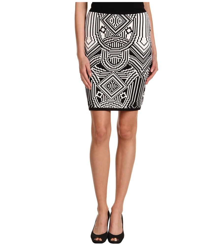 The graphic design on Nicole Miller's classic pencil skirt ($190) is an outfit maker. Wear it with basics and get ready for the compliments to roll in.
