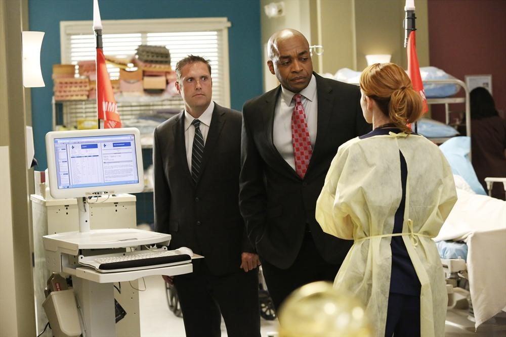 Rick Worthy and Sarah Drew on Grey's Anatomy.