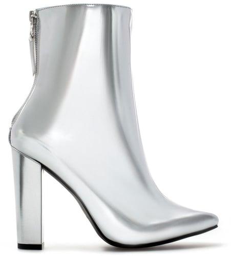 Ankle Boot With Metallic Heel