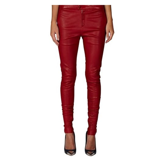 I love my leathers, but I'm covered for the more tonal colours. These red Bassike ones are pretty out there for me, but I'd like to wear them with nude heels and white v-neck tshirt. — Alison, Health & Beauty Editor. Pants, $700 from $1495, Bassike