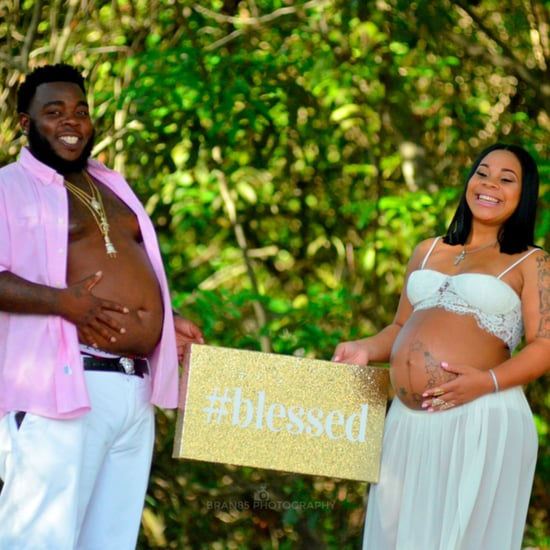Man Shows Off Belly Bump in Maternity Photos