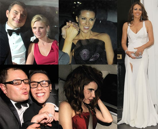 Pictures of Celebrities Arriving and Leaving Elton John's Annual White Tie and Tiara Ball Including Liz Hurley, Kate Beckinsale