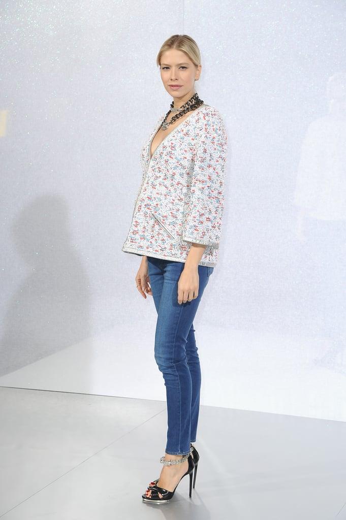 Elena Perminova at the Chanel Paris Haute Couture show.
