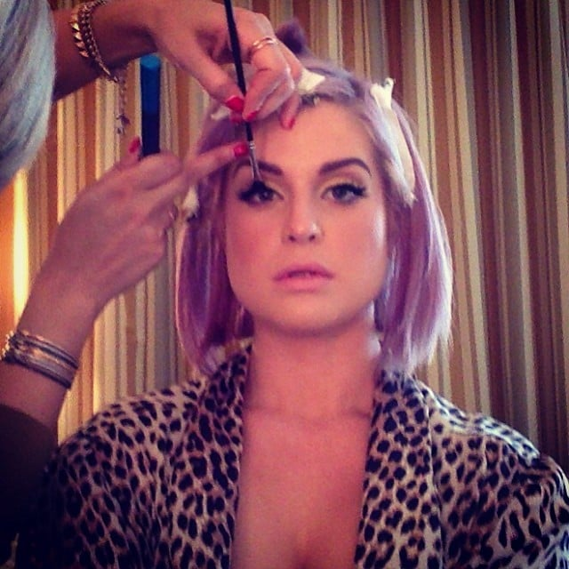 Kelly Osbourne shared a photo of her getting-ready session. Source: Instagram user kellyosbourne