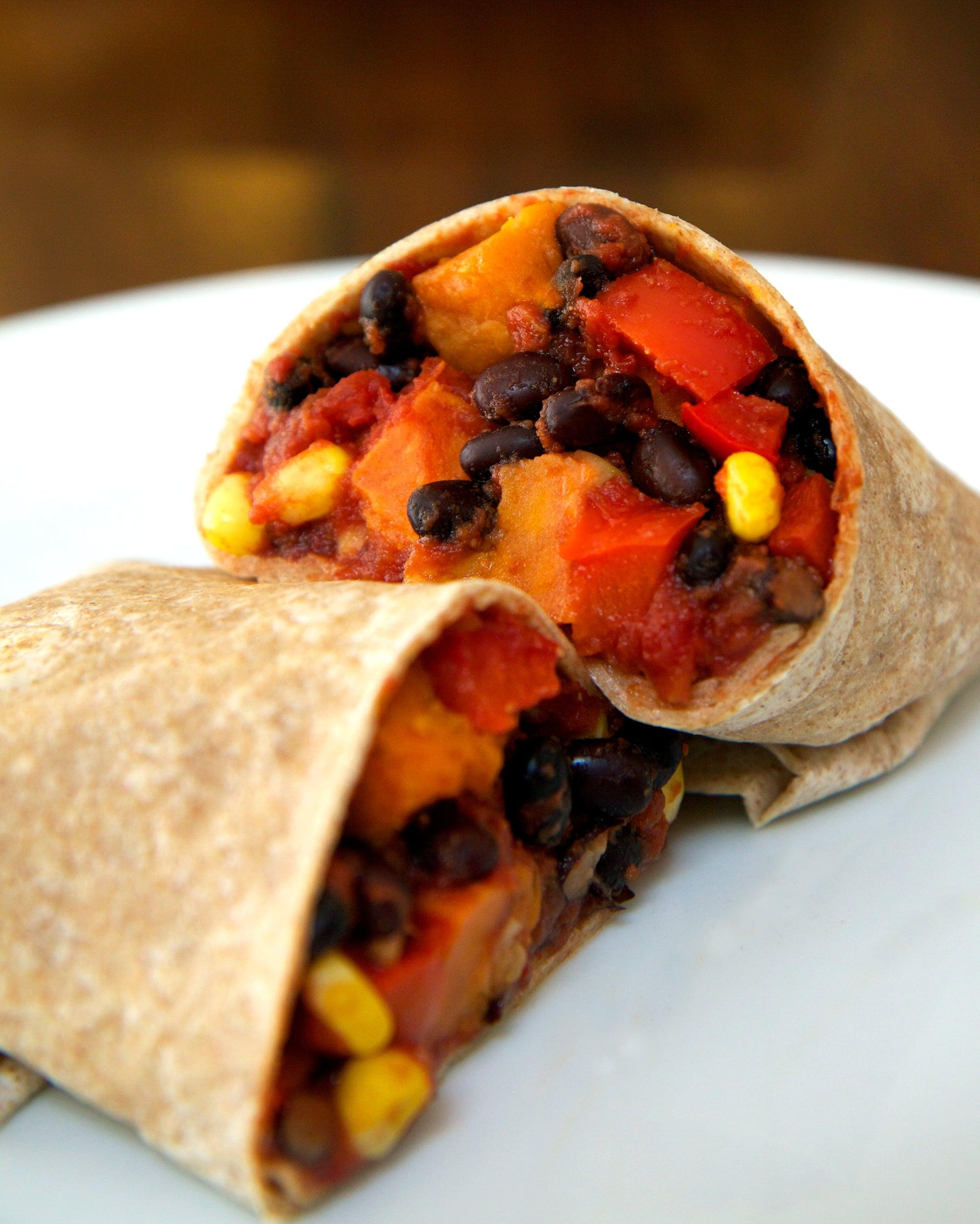 Sweet Potato Black Bean Burrito