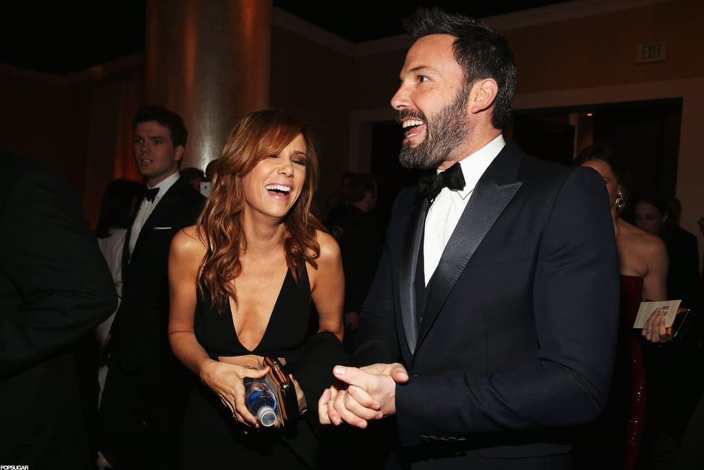 Ben Affleck and Kristen Wiig shared a laugh during the show.