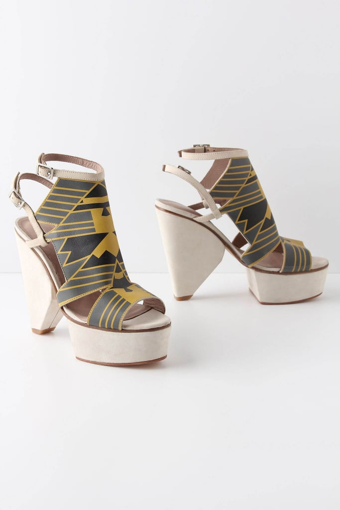 Show off these major graphic platform sandals with an LBD or minidress.  Surface to Air Pellissier Platforms ($300, originally $520)