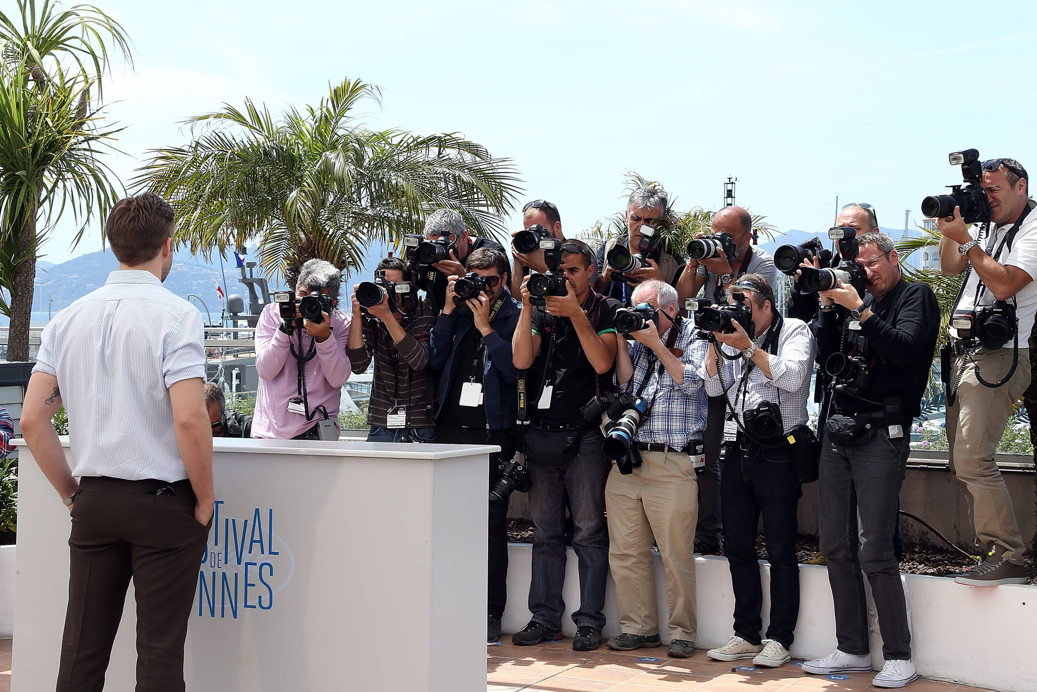 Ryan Gosling's arrival caused a stir at the Lost River photocall.