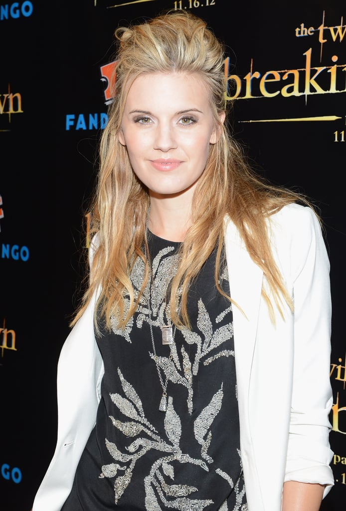 Maggie Grace gave a smile at the Breaking Dawn Part 2 party at Comic-Con.