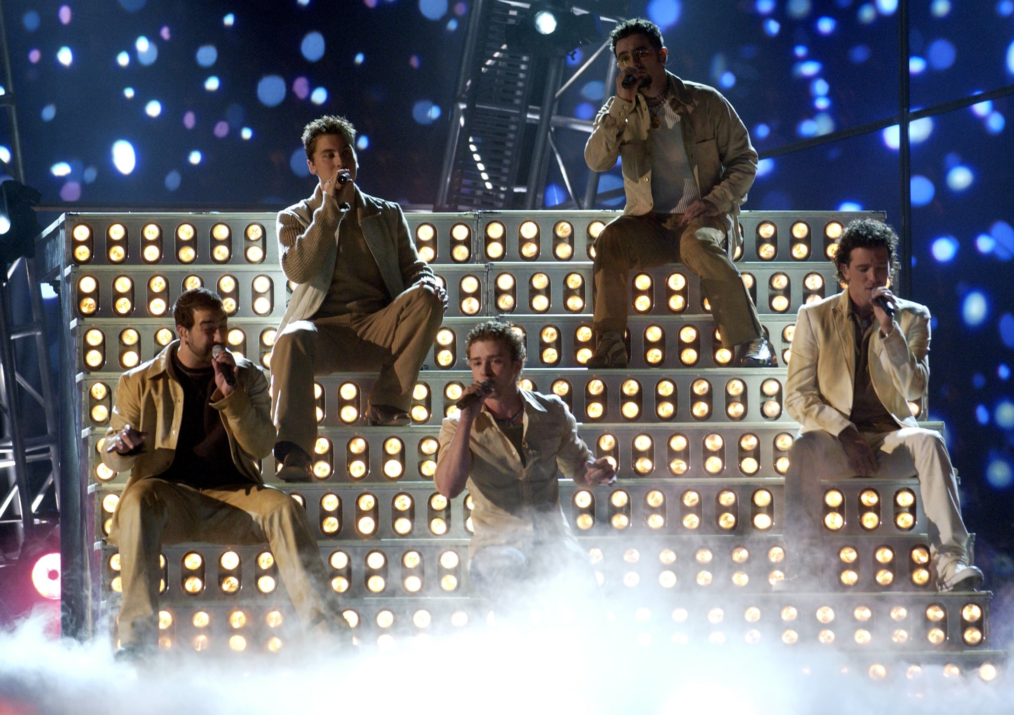 'NSYNC sat down for a special Billboard Music Awards show in December 2001.