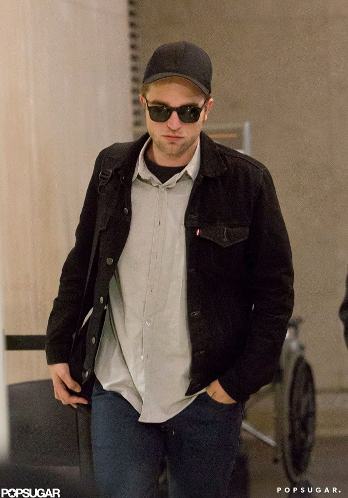 Robert Pattinson returned to LA after a minitour on behalf of his movie Cosmopolis.