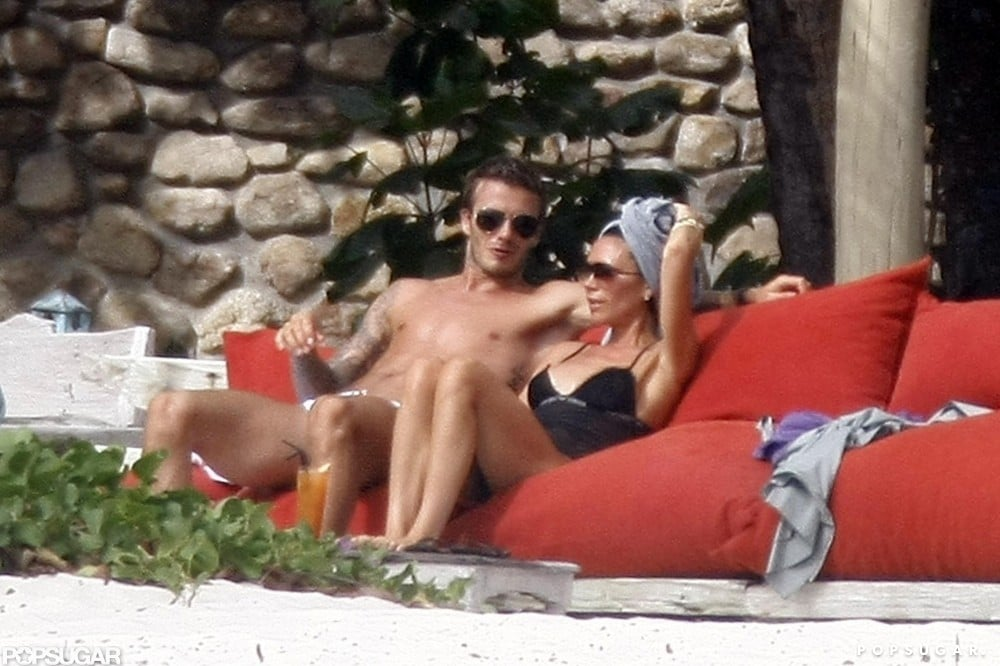 David and Victoria Beckham took a couples trip to the Seychelles in July 2009.
