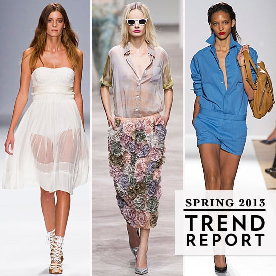 The Top Ten Runway Trends from the 2013 Spring Paris Fashion Week: Sheer, Sports, Long Shorts and more