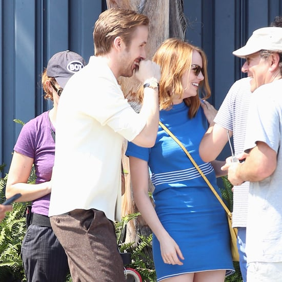 Emma Stone and Ryan Gosling on Set Pictures
