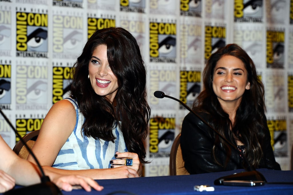 Ashley Greene and Nikki Reed were all smiles on stage in 2011.