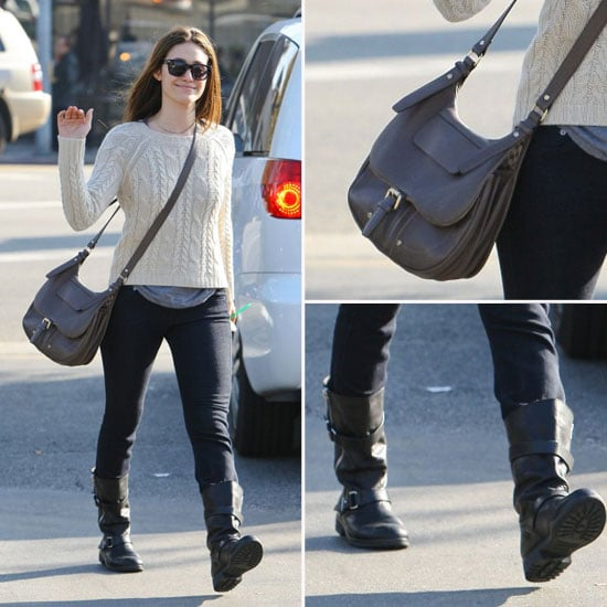 Emmy Rossum Street Style November 18, 2011