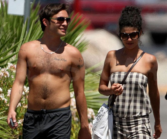 Photo Slide of Shirtless Ed Westwick and Jessica Szhor in Arizona
