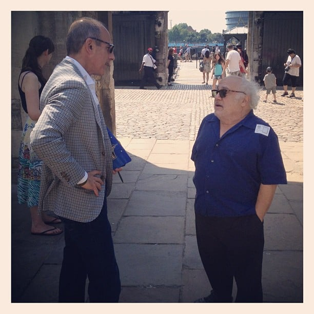 Matt Lauer caught up with Danny DeVito at the Tower of London. Source: Instagram user todayshow