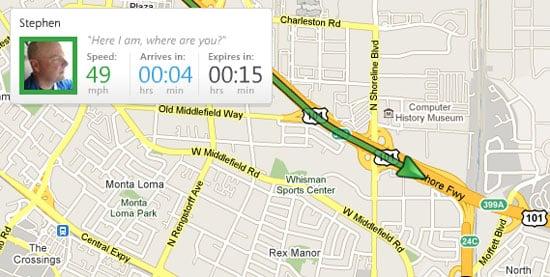 Glympse Geo-Tracking App