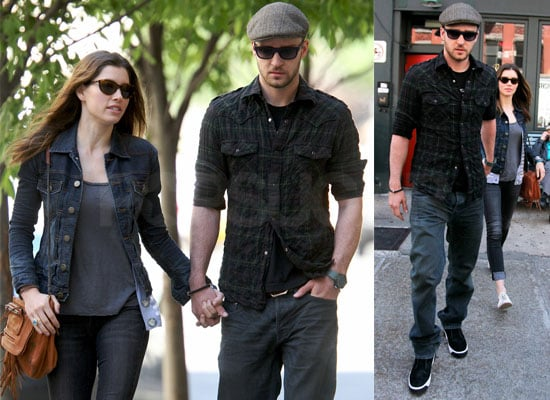Photos of Justin Timberlake and Jessica Biel Out Together in NYC, Mila Kunis to Costar in Friends with Benefits