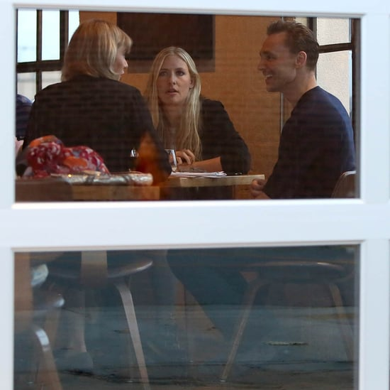 Taylor Swift and Tom Hiddleston hold hands and kiss while out for dinner with friends in Nashville while Calvin Harris comments