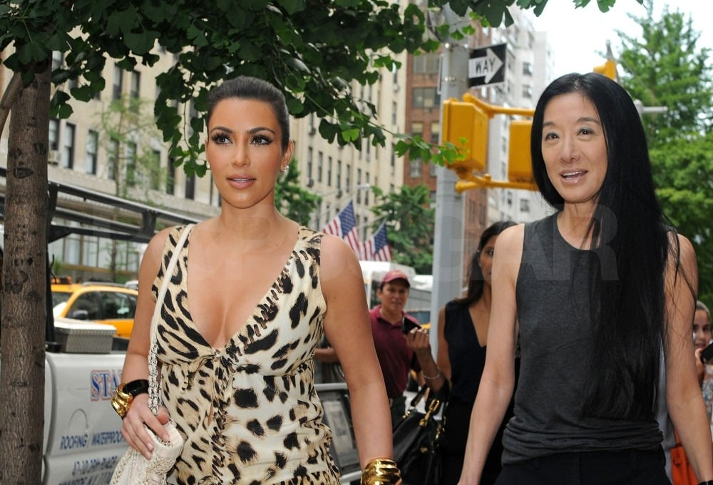 Kim Kardashian and Vera Wang chatted before lunch.