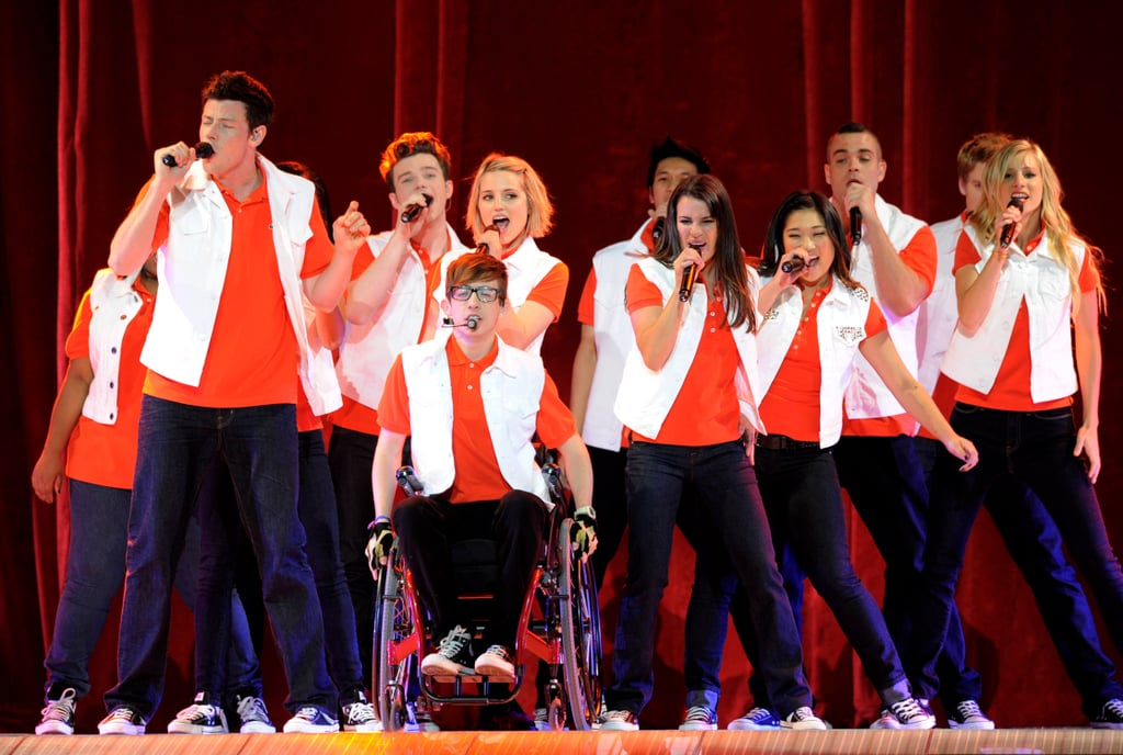 Cory Monteith performed with his Glee costars at a concert event in LA back in May 2011.